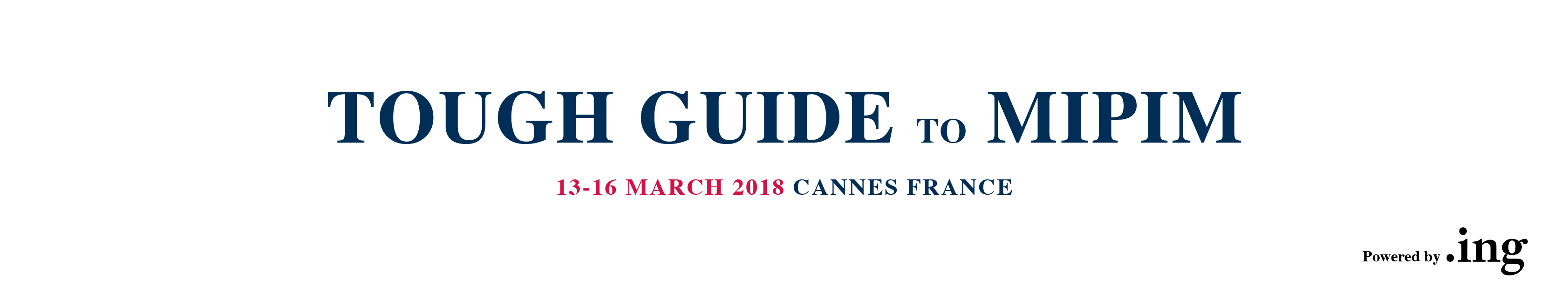 MIPIM TOUGH GUIDE 2018