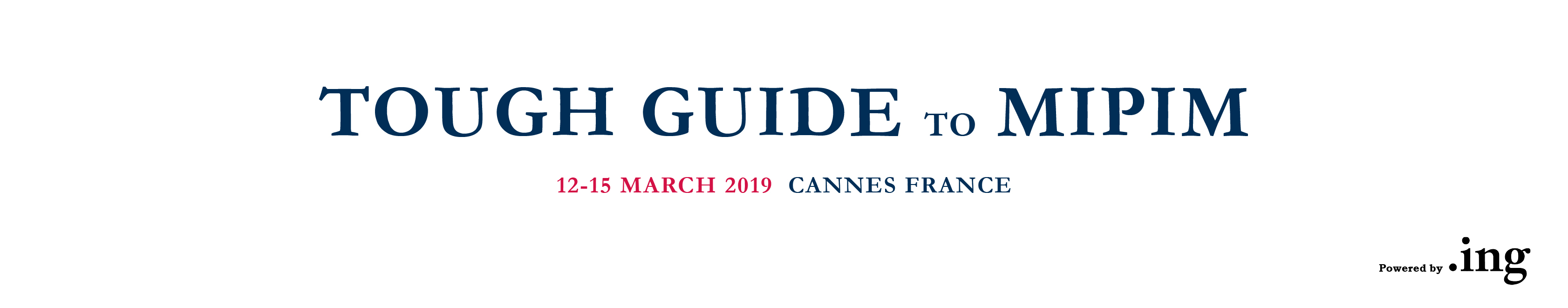 MIPIM TOUGH GUIDE 2019