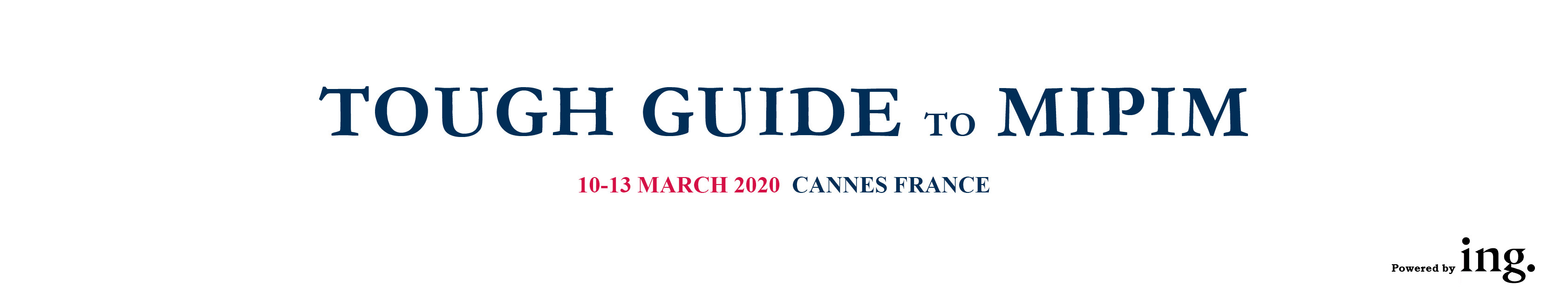 MIPIM TOUGH GUIDE 2020
